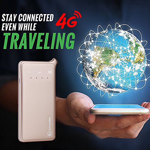 GlocalMe U2 4G Mobile Hotspot Global Wi-Fi with 1GB Global Initial Data, SIM Free, Coverage in Over 100 Countries Featuring Free Roaming, Compatible with Smartphones, Pads, Laptops and More(Gold) by Glocalme (Image #2)