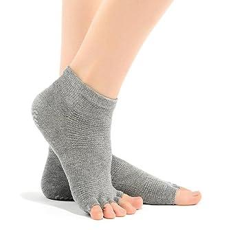 2 Pares Calcetines Damas Yoga Calcetines Finos Del Verano Del Dedo Del Pie De Split Calcetines De Algodón Dedos Del Pie Expuestos Hombres Anti-deslizantes ...