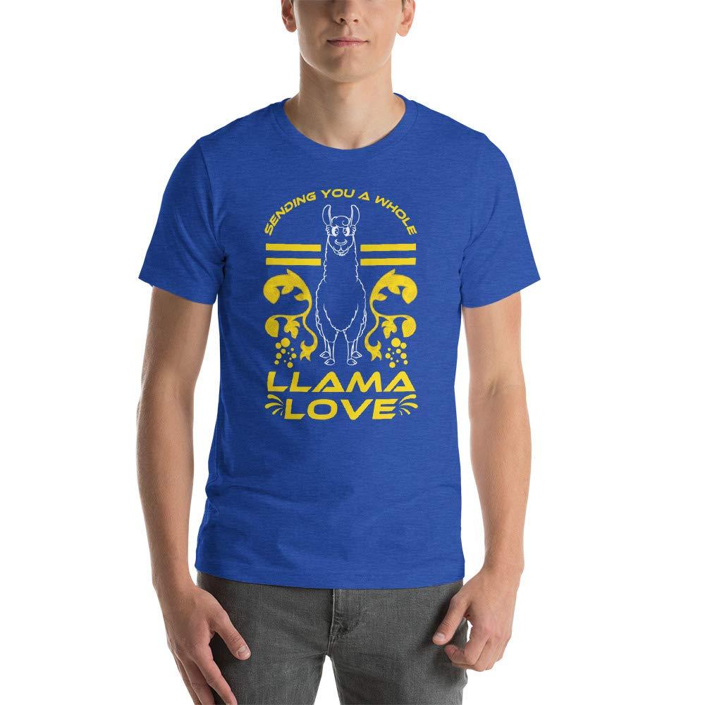 Llama T-Shirt Sending You A Whole Llama Love T-Shirt Llama Lover Gift Funny Animal Shirt