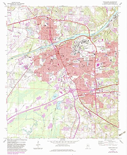 (YellowMaps Tuscaloosa AL topo map, 1:24000 Scale, 7.5 X 7.5 Minute, Historical, 1971, Updated 1983, 26.8 x 22 in - Polypropylene)