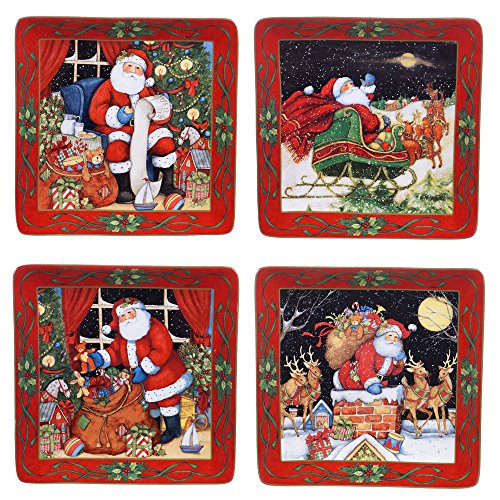 Certified International The Night Before Christmas Dinner Plates (Set of 4), 10.5