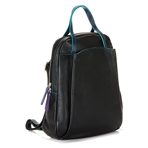 1874151a17e Mywalit Leather Backpack Verona Collection 1964 (Black Pace): Amazon ...