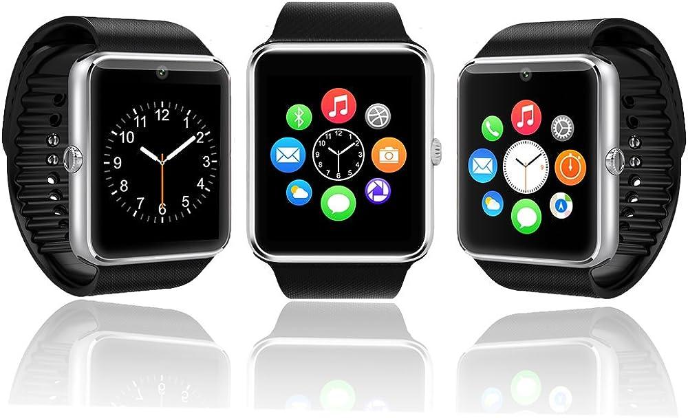 IndigiUnlocked! Stylish GSM Compatible with Bluetooth Wrist Watch Phone w/Spy Camera MP3 MP4 FM Radio
