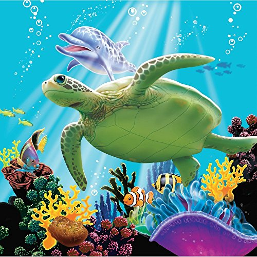 Turtle Cake Decorations (Whimsical Practicality Sea Turtle Edible Cake Image Topper 1/4)