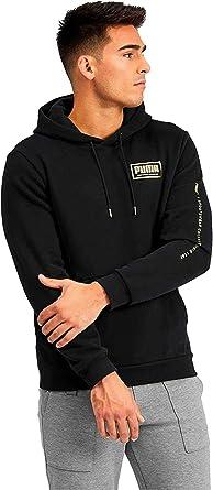 PUMA Men's Essential Hoodie Fleece Big Logo Sweatshirt