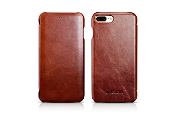 15e144686f ICARER iPhone7 IPHONE7 PLUS ケース 手帳型 ブランド 本革 マグネット 本革 iPhone7ケース iPhone7plus
