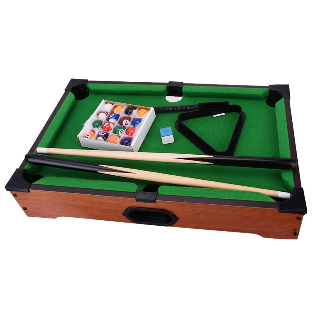 Mini Tabletop Ball Billiards Home Billiard Game Sets Pool Table for Child (Color : Green, Size : 51x31x8.5cm) by Forgiven