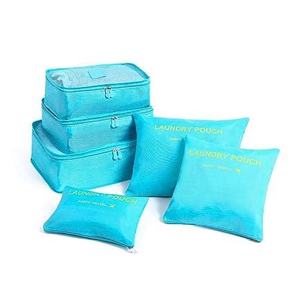6pcs Conjunto de bolsas de almacenamiento de viaje Ropa de ...
