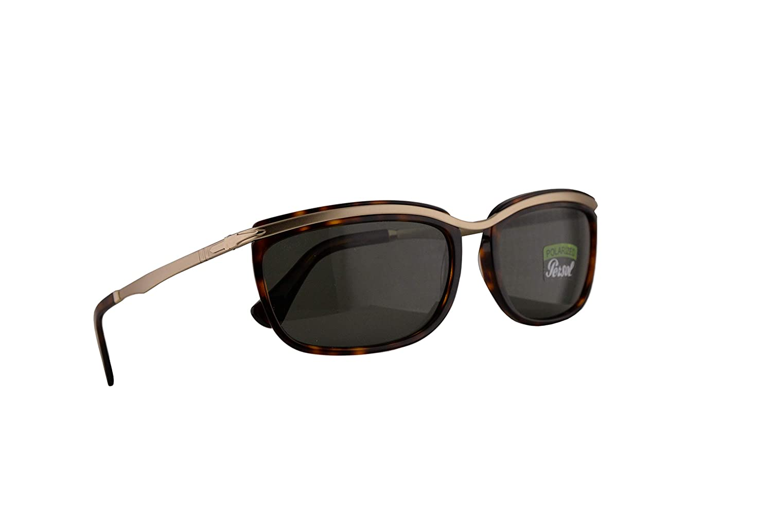 Persol 3229-S Key West II Sunglasses Havana w//Polarized Green 60mm Lens 2458 PO 3229S PO3229S PO3229-S