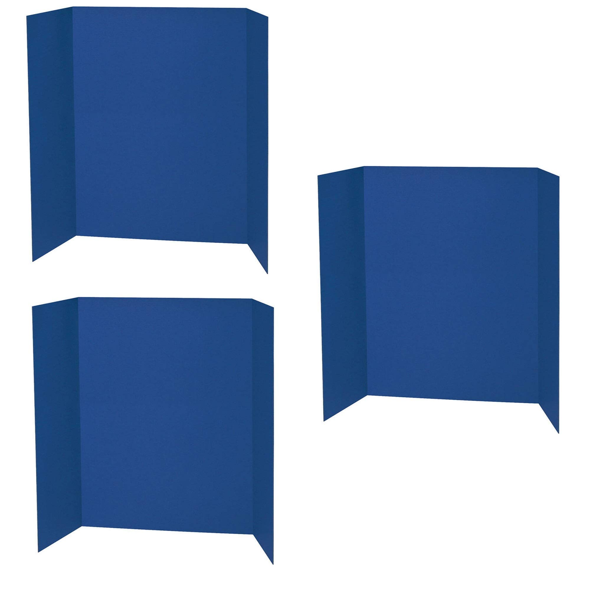 Spotlight 1 Ply Trifold Display Board, 48'' Width x 36'' Height, Blue, 3 Pack by Spotlight
