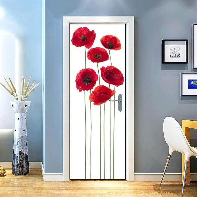 PVC Sticker Print on Bubble Free PT0125 Flash graffiti door Adhesive Decoration for Home Decoration Doors