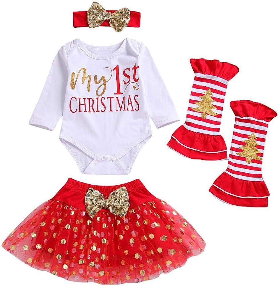 Disfraz Navidad Bebe Niña MY 1st Christmas Monos Tops + Tutu Falda ...