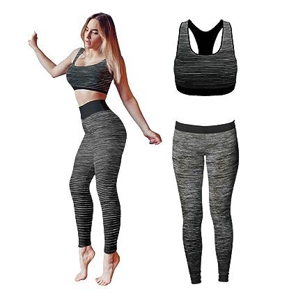 Conjunto de ropa de yoga o entrenamiento para mujer de Bonjour®, parte superior y mallas ajustadas Stretch-Fit