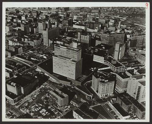 Photo: Midtown Plaza,shopping center,urban renewal,buildings,Rochester,New - Rochester Shopping New York