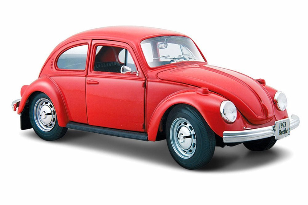 Volkswagen Beetle Hard Top, Red - Maisto 31926R - 1/24 Scale Diecast Model Toy Car