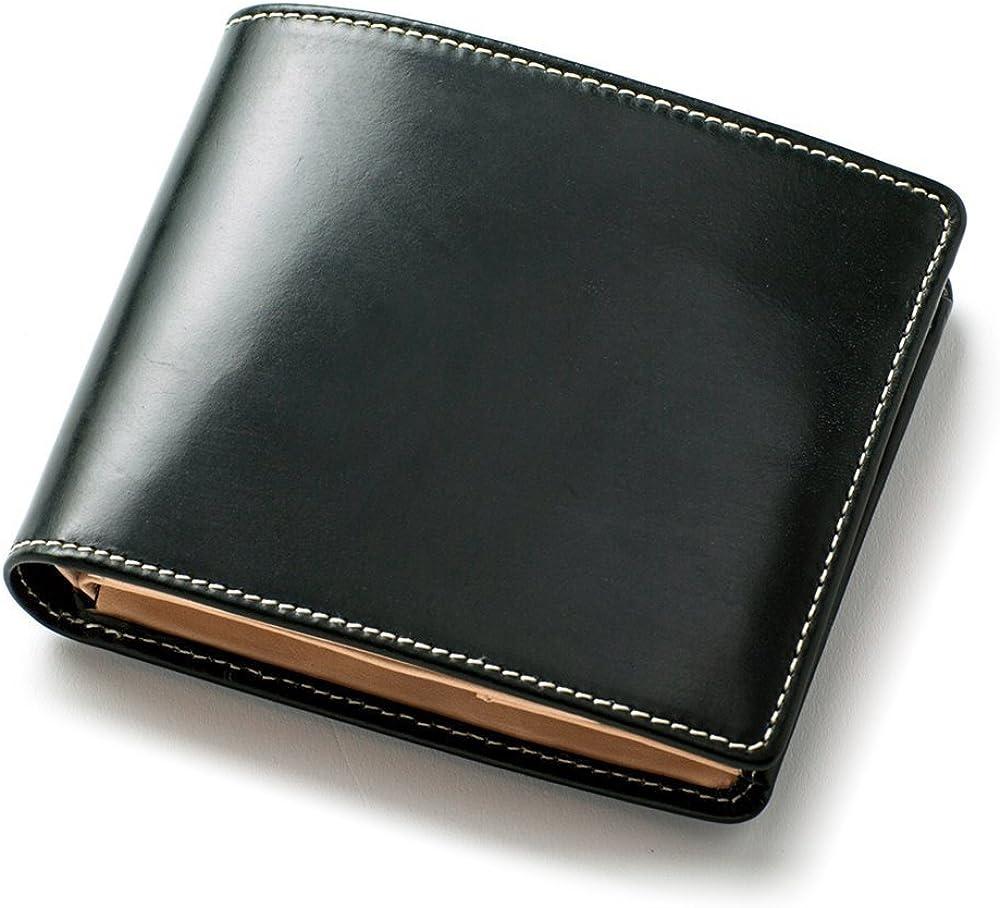 [ブリティッシュグリーン] 二つ折り財布 英国製ブライドルレザー使用 財布 メンズ (05.グリーン)