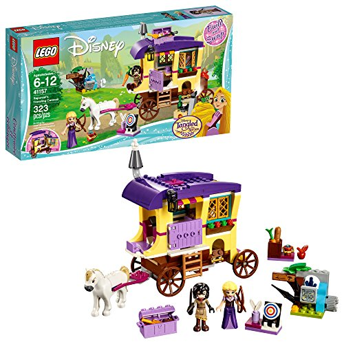 Set Bucket Princess (LEGO 6213314 Disney Princess Rapunzel's Traveling Caravan 41157 Building Kit (323 Piece), 5 x 3 x 5, Assorted)