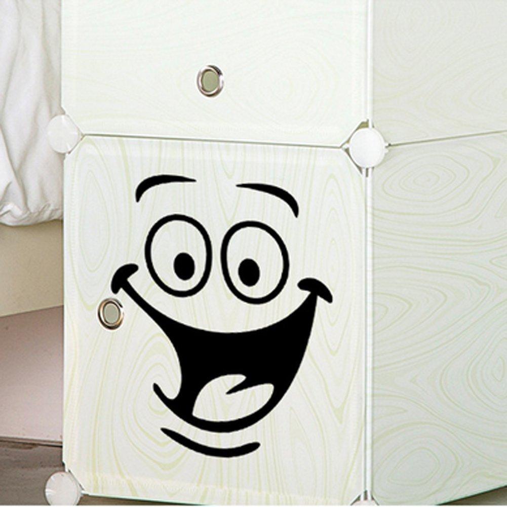 Funny animation Big Eyes WC en PVC Sticker mural Sticker Home murales en vinyle Papier peint papier D/écoration Maison Salon Chambre Cuisine Art Photo DIY pour enfants Teen Senior Nursery b/éb/é Adulte