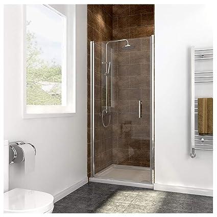 700mm Frameless Pivot Shower Door Enclosure Glass Reversible Cubicles Screen Amazoncouk Kitchen Home