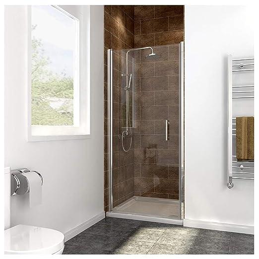 Mampara de cristal para ducha, diseño sin marco, giratoria ...