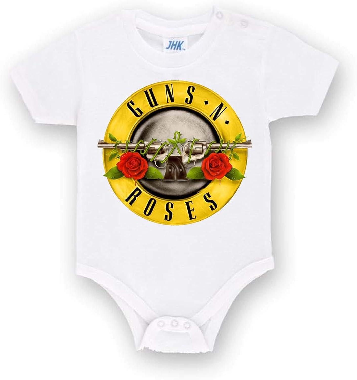 Body Personalizzato dei Gunsn Roses Band Tutina Bianca Bimbo Bimba Neonato