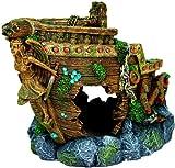 Exotic Environments Bow Shipwreck Aquarium Ornament