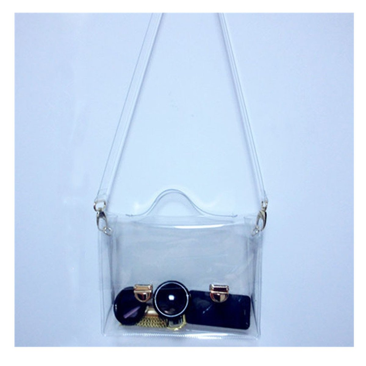 OURBAG Clear Purse Crossbody Messenger Shoulder Bag for Women Chain Strap Transparent Medium
