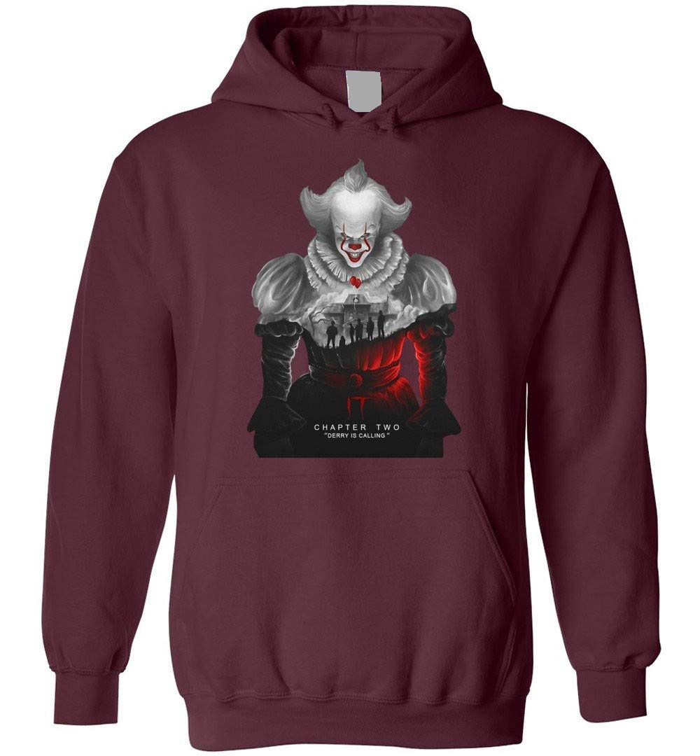 Lubus It Chapter Two Derry Is Calling Adults Youth Maroon Shirts