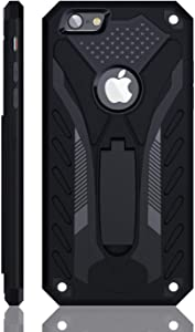 iPhone 6 Plus Case | iPhone 6S Plus Case | Military Grade | 12ft. Drop Tested Protective Case | Kickstand | Compatible with Apple iPhone 6 Plus/iPhone 6S Plus - Black