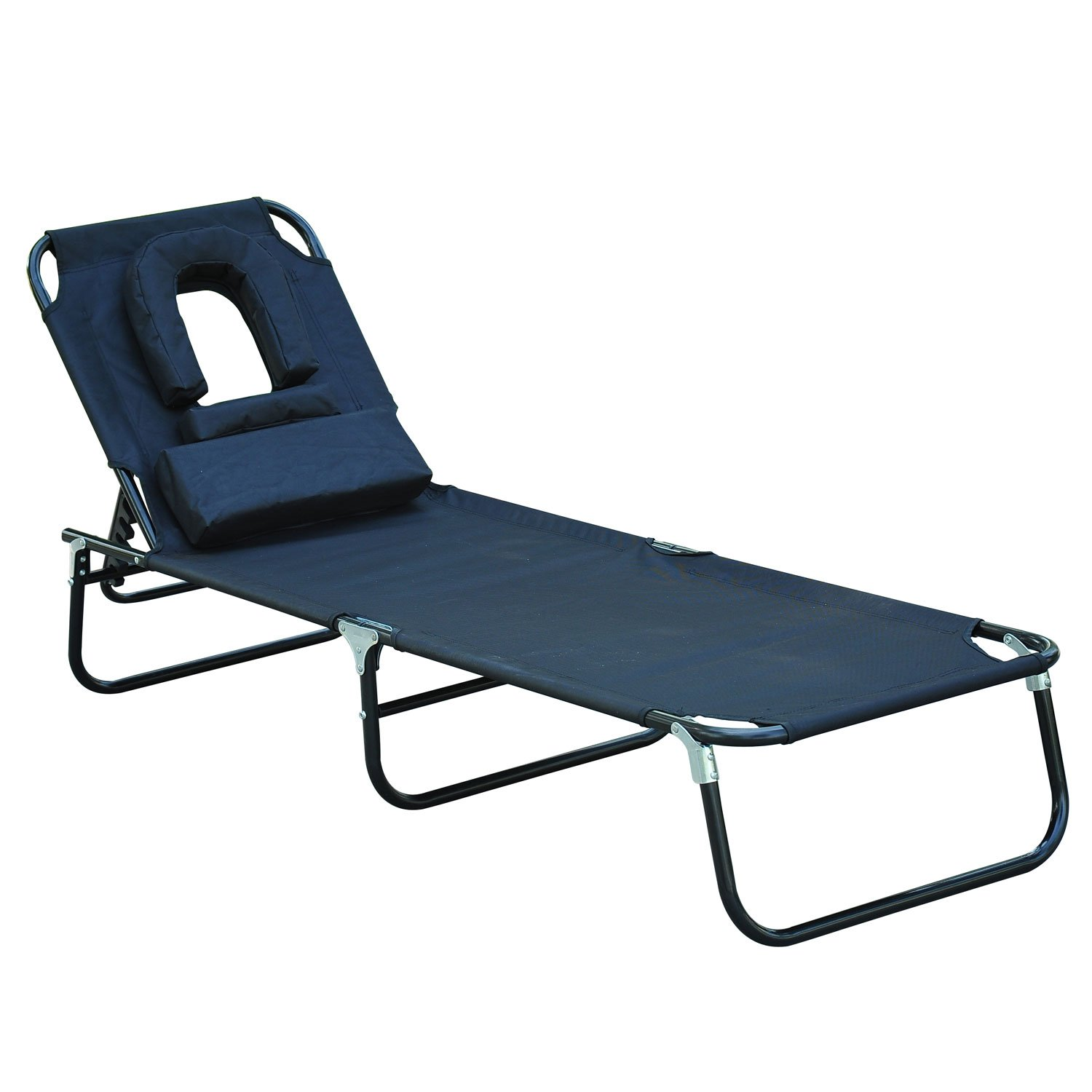 OUTSUNNY SUN BED CHAIRS GARDEN LOUNGER RECLINING FOLDING RELAXER