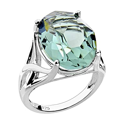 8b904e63d Amazon.com: Sterling Silver Oval Genuine Swarovski Crystal Solitaire ...