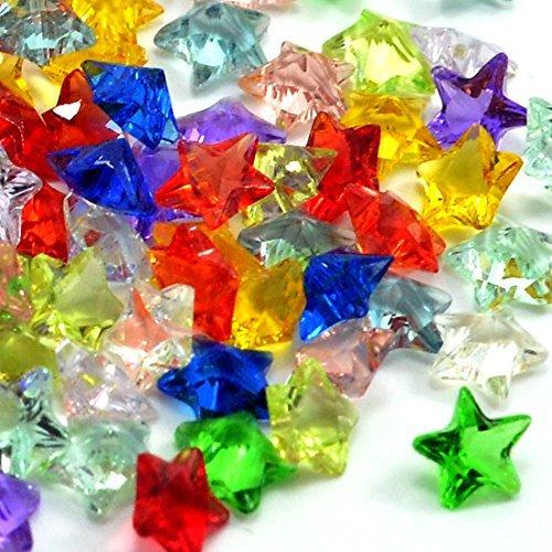Wholesale 120pcs Star Shape DIY Jewelry Making Crystal Glass Beads Muti Colors ()