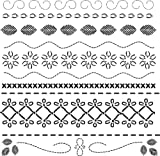 CRAFTERS WORKSHOP Templates 12-Inch by 12-Inch, Deco Stitches