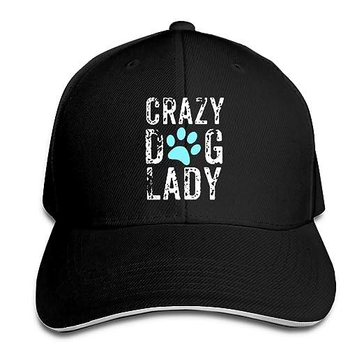 308de042518 Crazy Dog Lady Paw Adjustable Sandwich Hats Baseball Cap Sun Hat at Amazon  Men s Clothing store