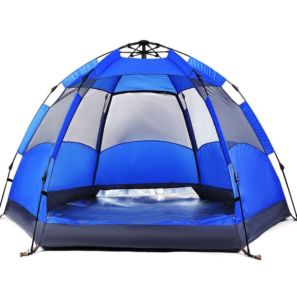 ME- Campingzelt, 3-4 Personen Zelt Instant Pop Up Family Campingzelt - Double Layer - Wasserdicht - 4 Season Backpacking Zelt