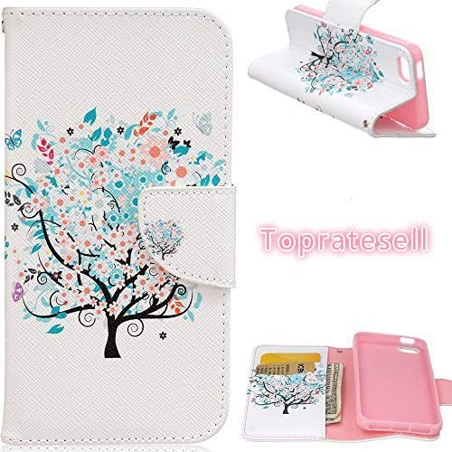 Amazon Com Iphone Se Case Iphone 5s Case 5s Case Topratesell Fashion Design Wallet Pu Leather Case Cover For Iphone Se 5s 5 Colorful Tree