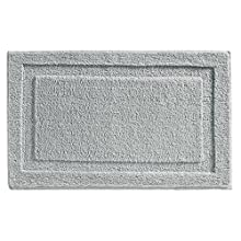 """InterDesign Spa Microfiber Polyester Bath Mat, Non-Slip Shower Accent Rug for Master, Guest, and Kids' Bathroom, Entryway, 34"""" x 21"""", Gray"""