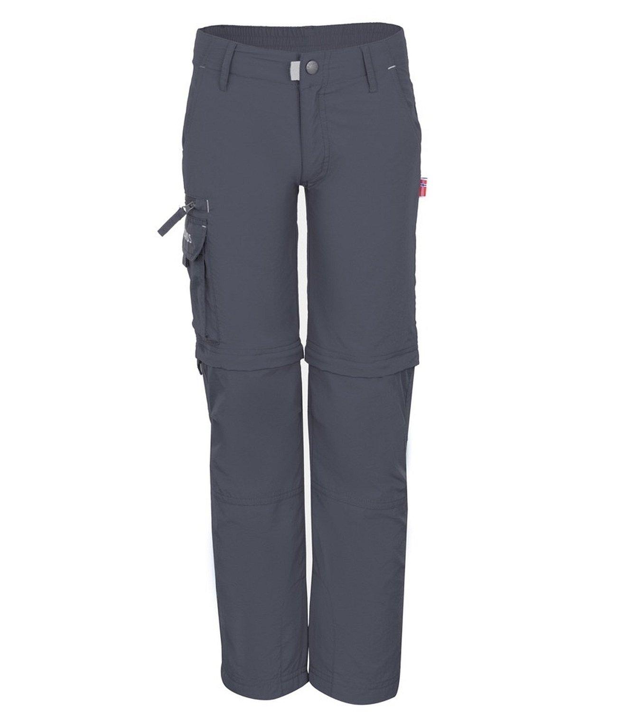 Trollkids Kids' Oppland Zip-Off Hiking Pants Slim Fit, Dark Grey, Size 2T (92)