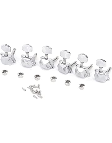 Musiclily Pro 6 in line Semi Sealed Electric Guitar Machine Heads Tuning Pegs Keys Tuners Set