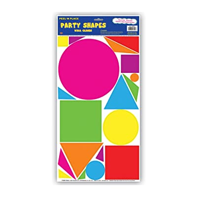Party Shapes Peel 'N Place (circles, squares, triangles) Party Accessory (1 count) (19/Sh): Kitchen & Dining