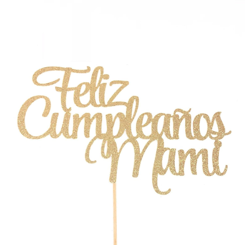 Amazon.com: Happy Birthday Mom Cake Topper, Feliz Cumpleaños ...