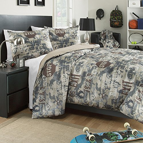 - Brunton International, Inc 30751AM Boot Camp Mini Comforter Set - Twin, 3 Piece