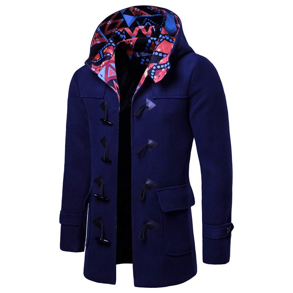 Amazon.com: PASATO New Men Horns Buckle Jacket Winter Trench Long Outwear Button Smart Overcoat Coats Clearance Sale!: Clothing