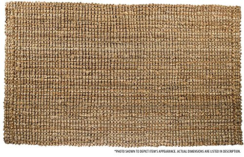 Milliard Handspun 4' x 6' Natural Jute Rug, Thick and Sturdy, Beautiful look and Matches all Color Schemes, Environmentally Friendly