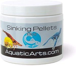 Aquatic Arts Sinking Pellets (.5 lb Spirulina Tabs) Freshwater Fish Food (Cichlid Tetra) | Shrimp Pellets | Aquarium Snail Food (Nerite Trapdoor Ramshorn) | Crayfish Food | Hermit Crab Food and More