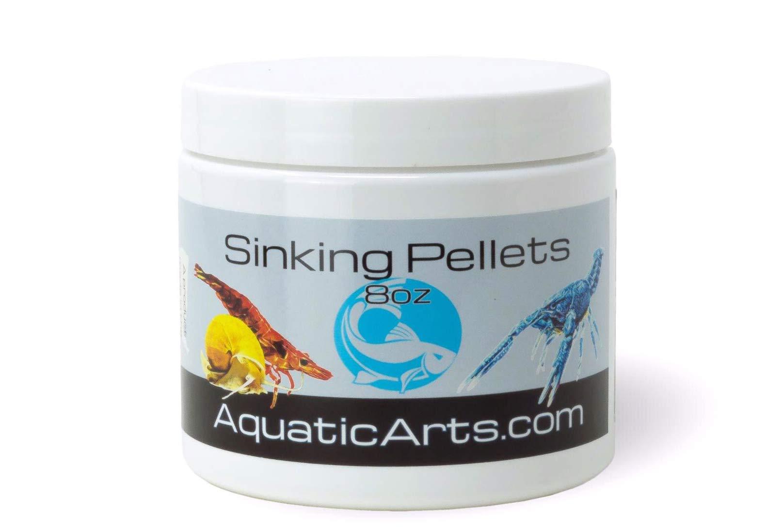 Aquatic Arts Sinking Pellets (.5 lb) Spirulina Food for Freshwater Invertebrates (Crayfish, Crabs, Shrimp, Snails), Fish (Cichlid, Tetra) and More by Aquatic Arts