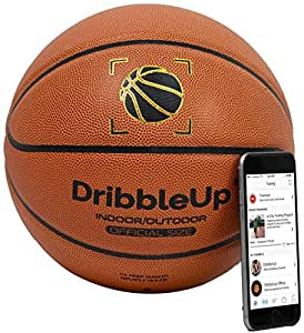 """DribbleUp Smart Basketball with Included Virtual Trainer App - Official Size 29.5"""""""