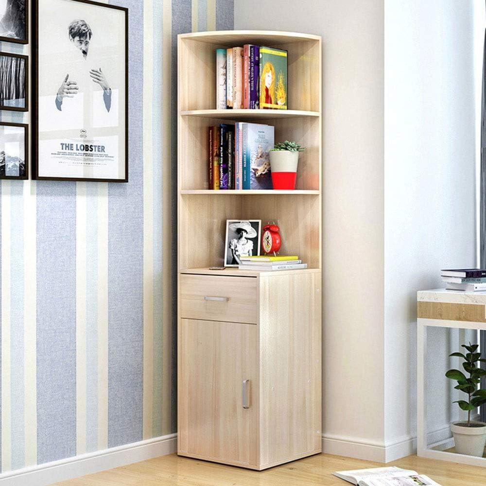 本棚 シンプルなデスクトップブックシェルフブックストアブックストレージマネージャーブックCDアルバムファイルホルダーリビングルームホームオフィス多目的ブックシェルフ モダンな寝室の本棚 (Color : Beige, Size : 162.5x40x40cm)