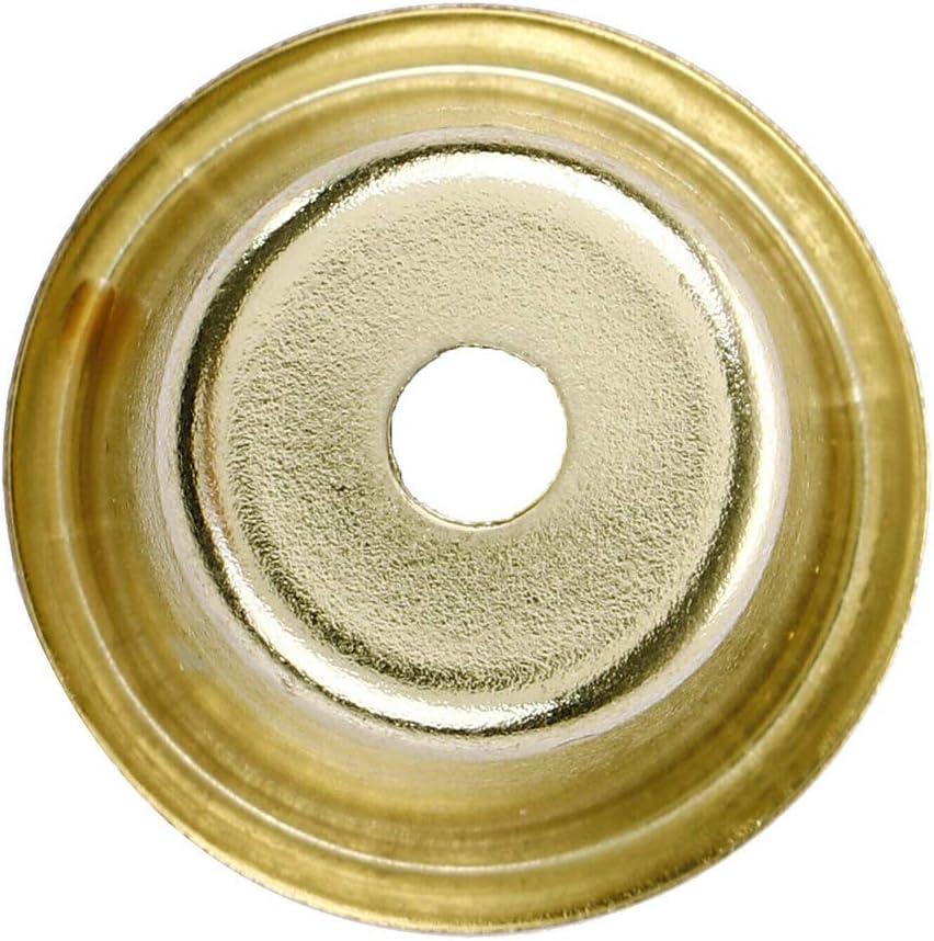 XJF 10pcs Metal lat/ón vela tazas soporte de vela para la l/ámpara de fabricaci/ón de velas titular de velas para mesas candelabros de boda