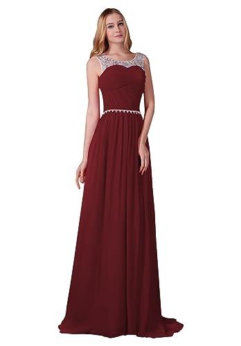 Miya Bridesmaid Prom Dress Beaded Sparkling Embellished Size 2 Burgundy